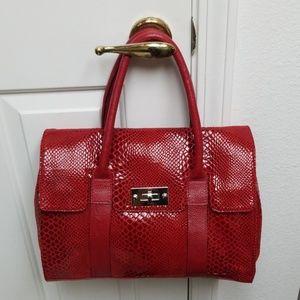 Handbags - Gorgeous Large/Medium red faux snakeskin bag